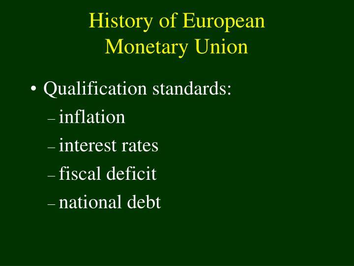 History of European