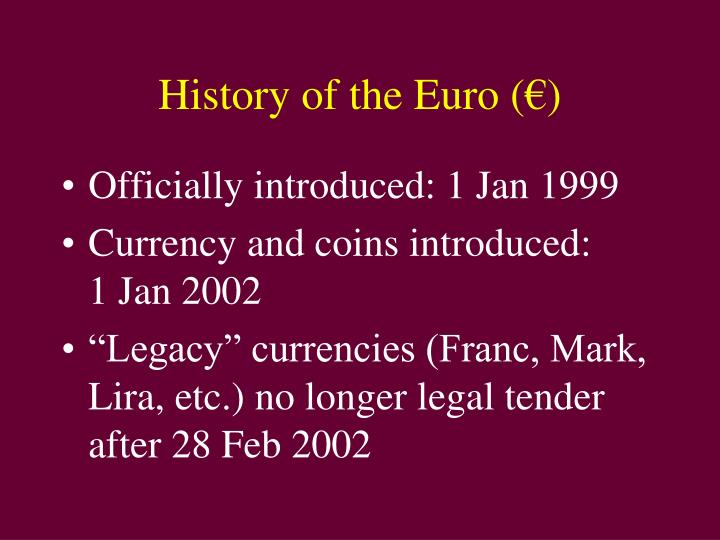 History of the Euro (
