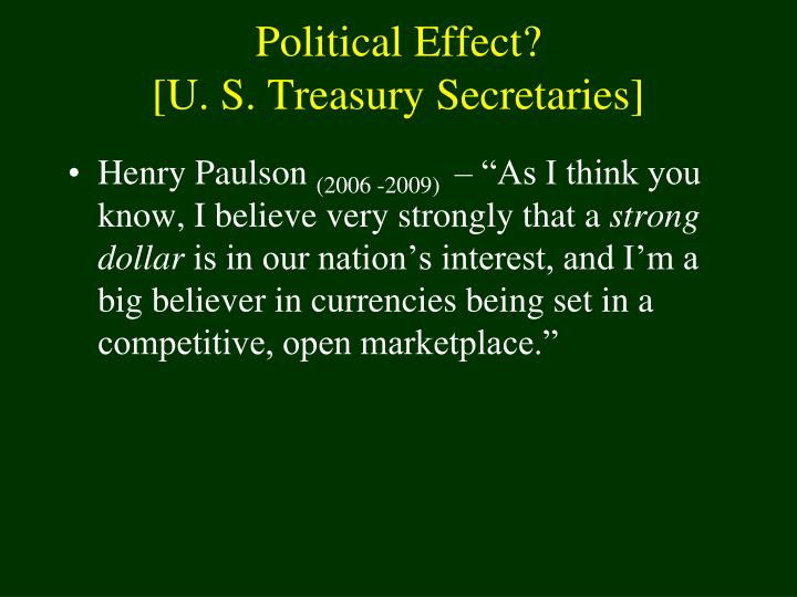 Political Effect?