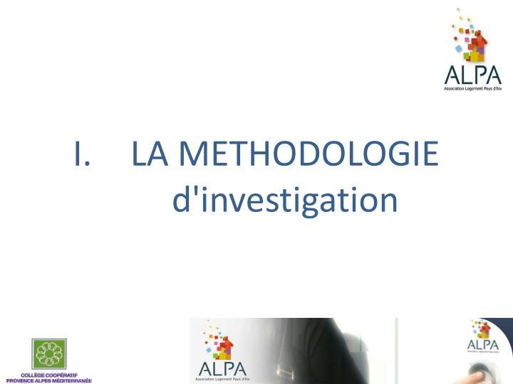 LA METHODOLOGIE