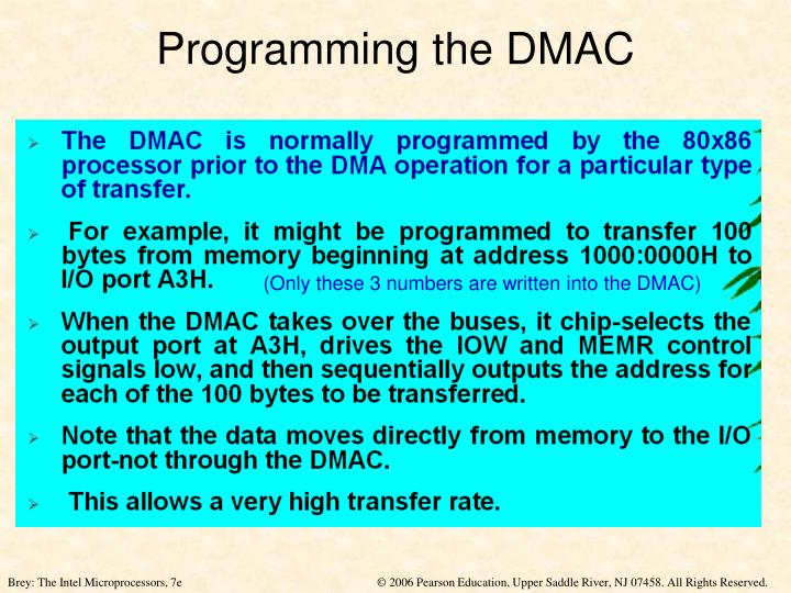 Programming the DMAC