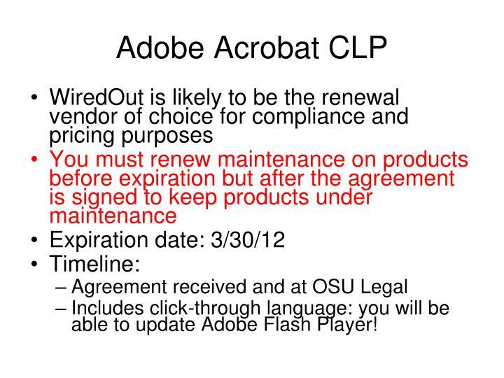 Adobe Acrobat CLP