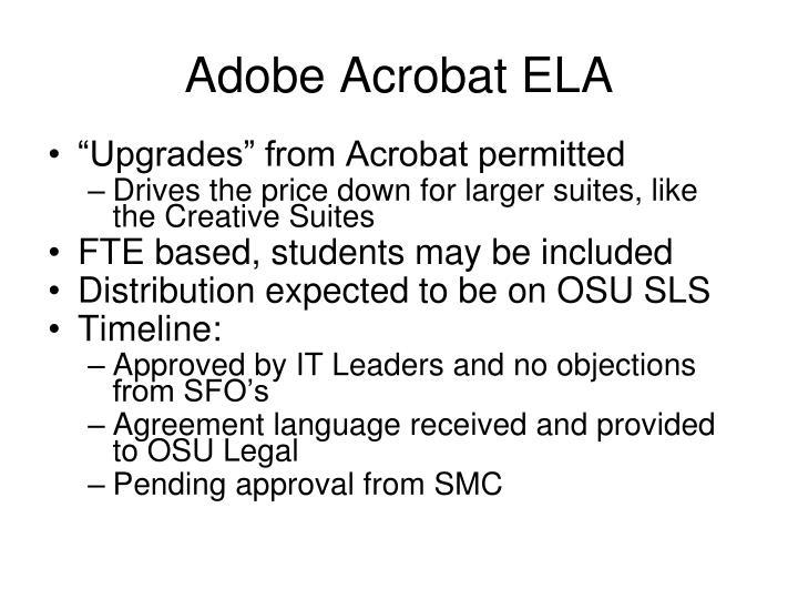 Adobe Acrobat ELA