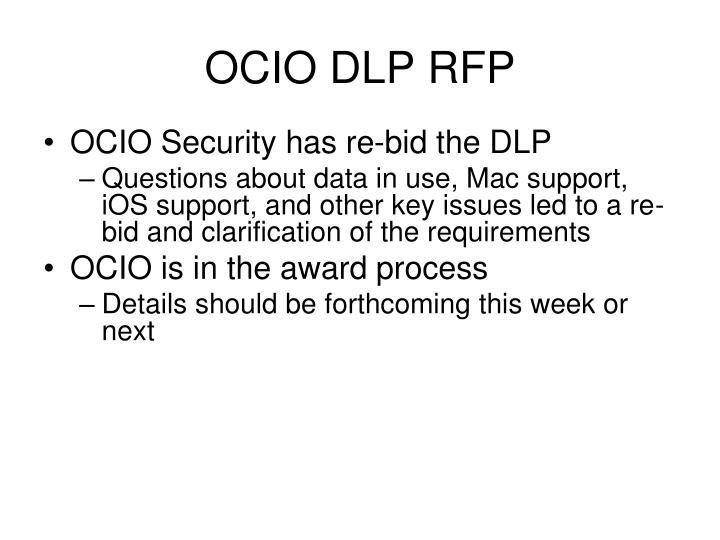 OCIO DLP RFP