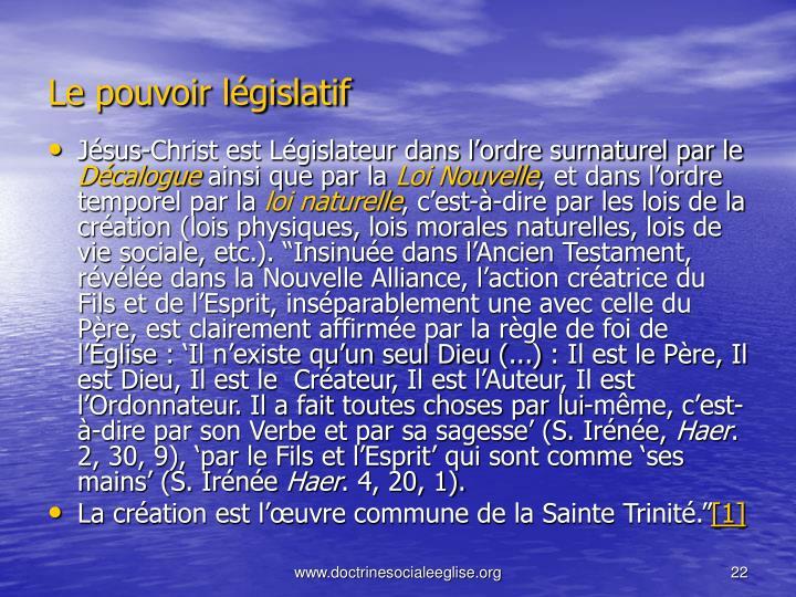 Le pouvoir lgislatif