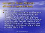passages de l ancien testament affirmant la royaut du messie