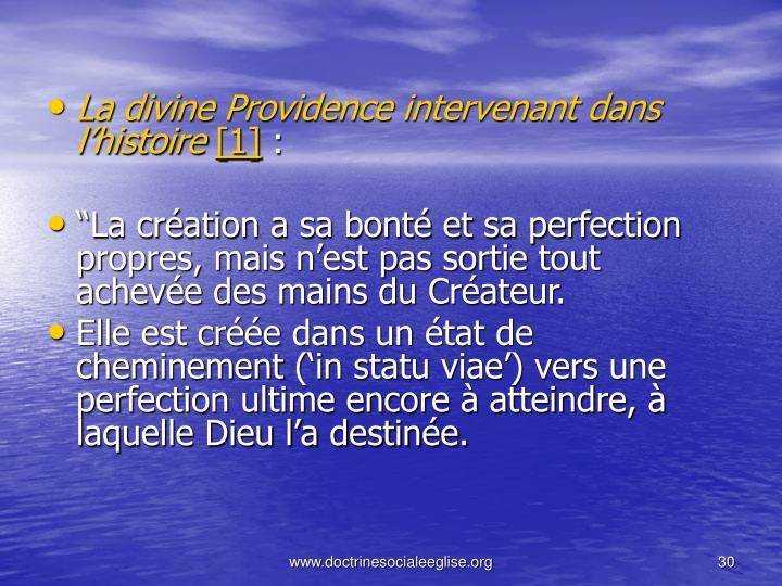 La divine Providence intervenant dans l'histoire