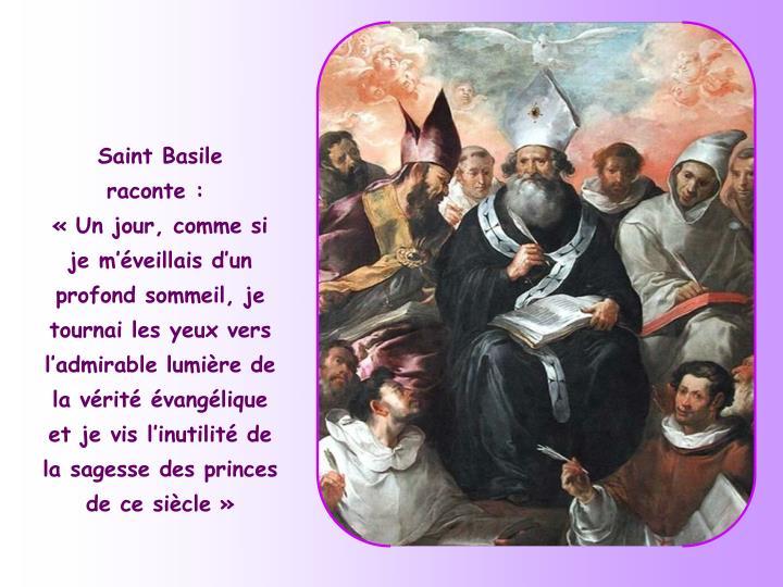 Saint Basile raconte: