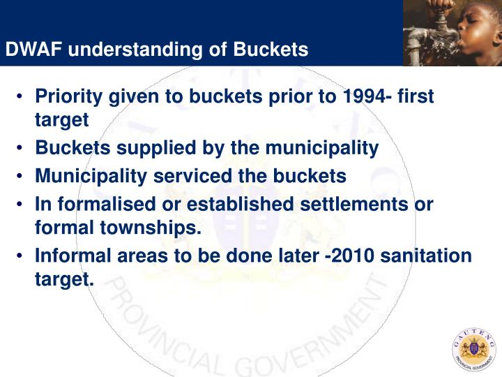 DWAF understanding of Buckets
