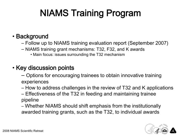 NIAMS Training Program