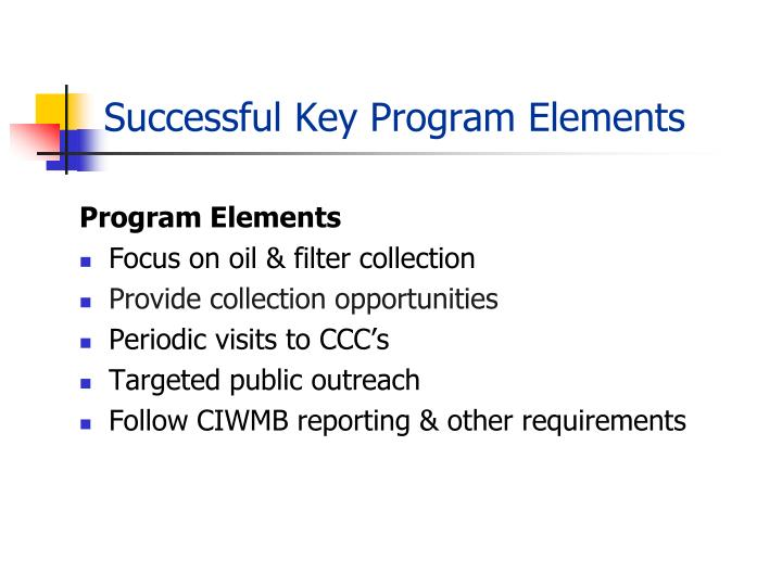 Successful Key Program Elements