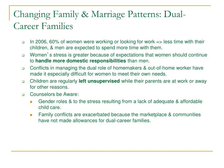 Changing Family & Marriage Patterns: Dual-Career Families