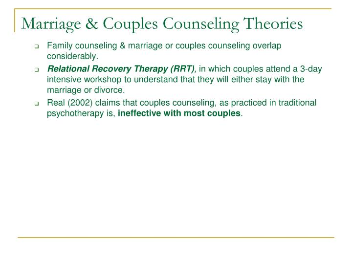 Marriage & Couples Counseling Theories