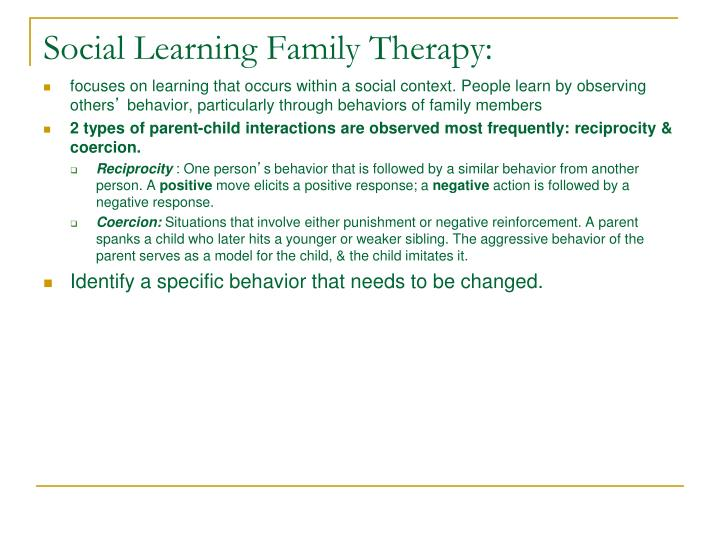 Social Learning Family Therapy: