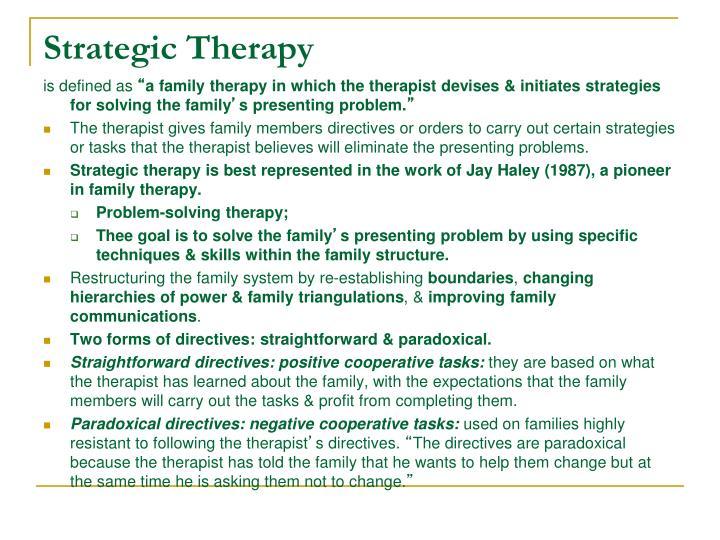 Strategic Therapy