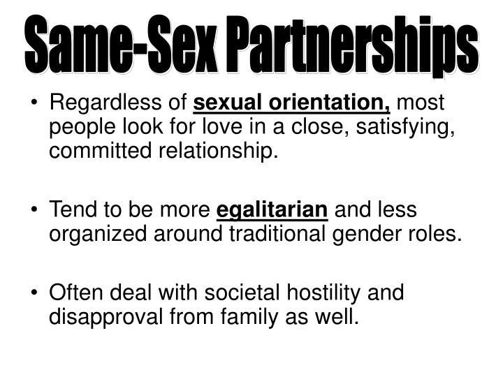 Same-Sex Partnerships
