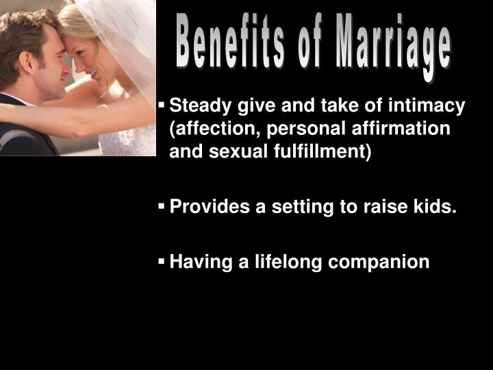 Benefits of Marriage