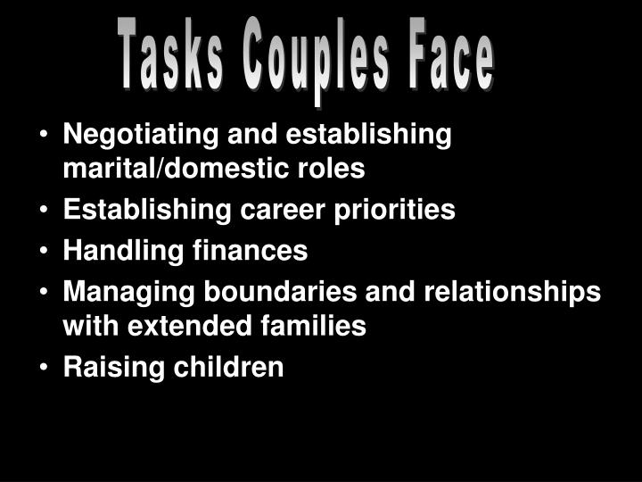 Tasks Couples Face