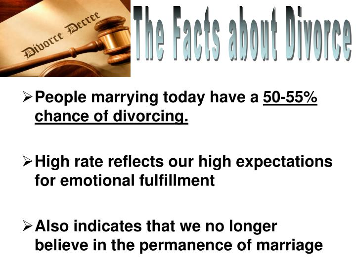 The Facts about Divorce