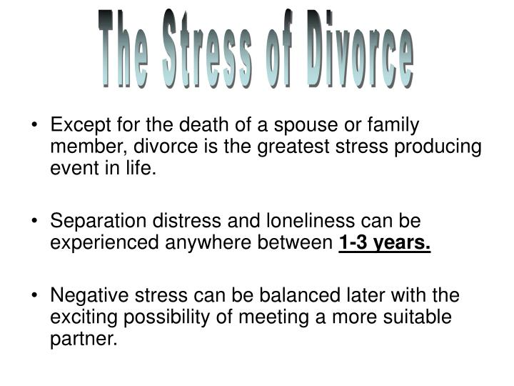 The Stress of Divorce