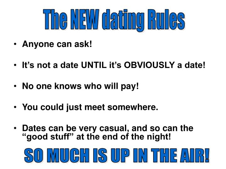 The NEW dating Rules