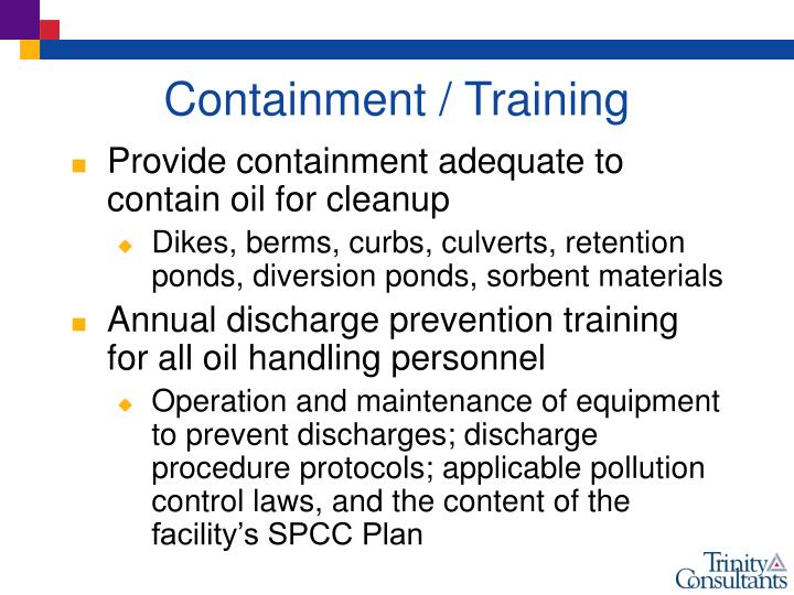 Containment / Training