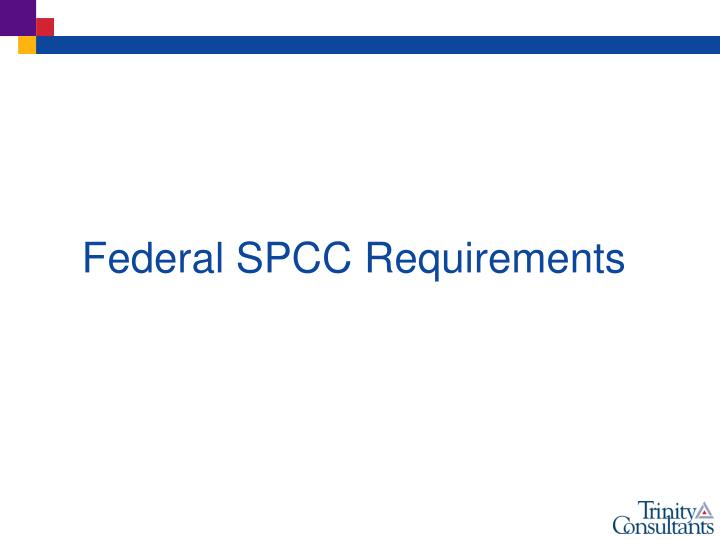 Federal SPCC Requirements