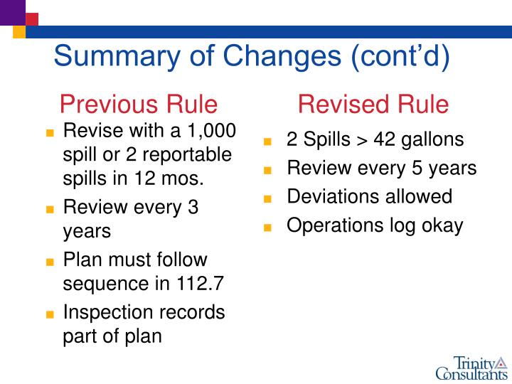 Revise with a 1,000 spill or 2 reportable spills in 12 mos.