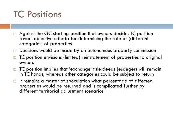 TC Positions