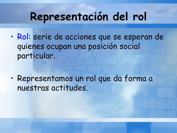 Representación del rol