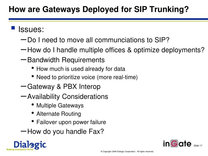 How are Gateways Deployed for SIP
