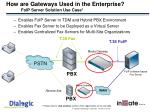 how are gateways used in the enterprise foip server solution use case