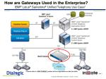 how are gateways used in the enterprise ibm lotus sametime unified telephony use case