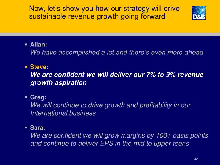 Now, let's show you how our strategy will drive sustainable revenue growth going forward