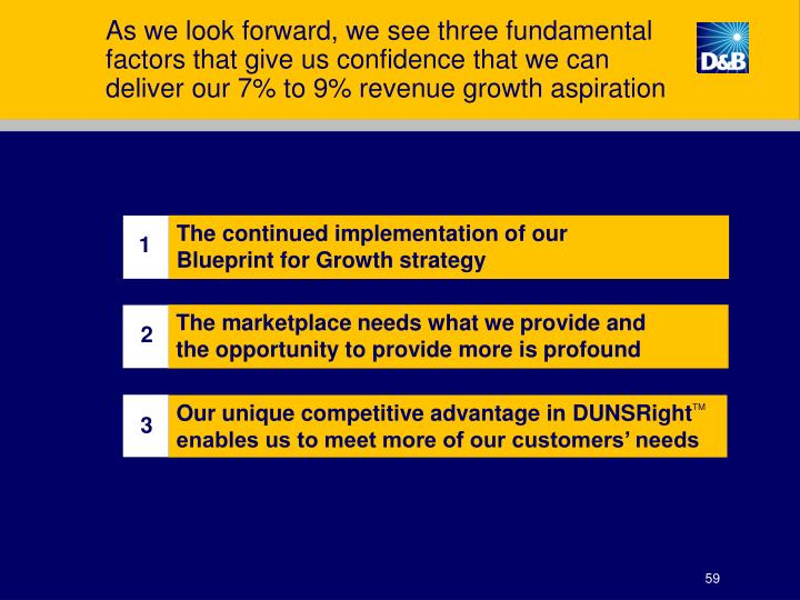 As we look forward, we see three fundamental