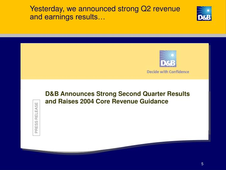 Yesterday, we announced strong Q2 revenue and earnings results…