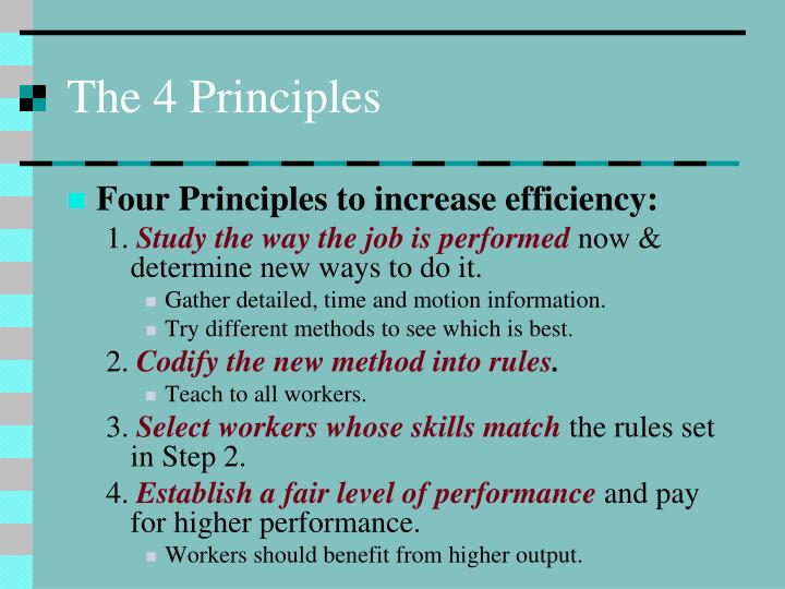 The 4 Principles