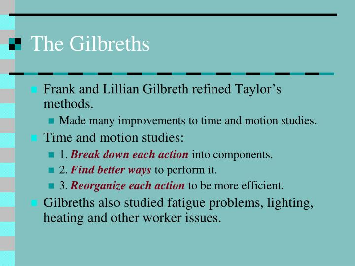 The Gilbreths