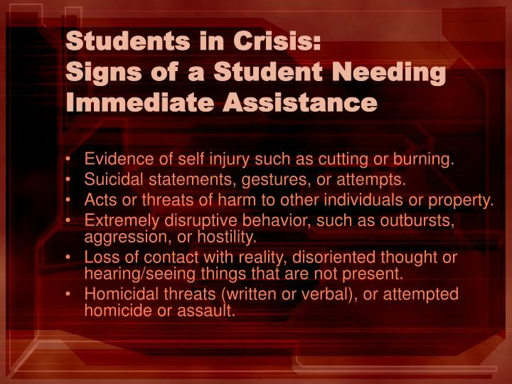 Students in Crisis: