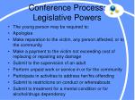 conference process legislative powers