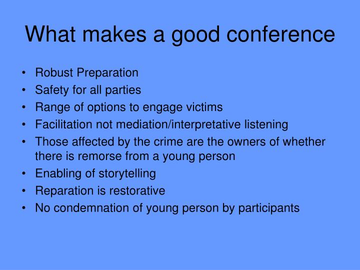 What makes a good conference