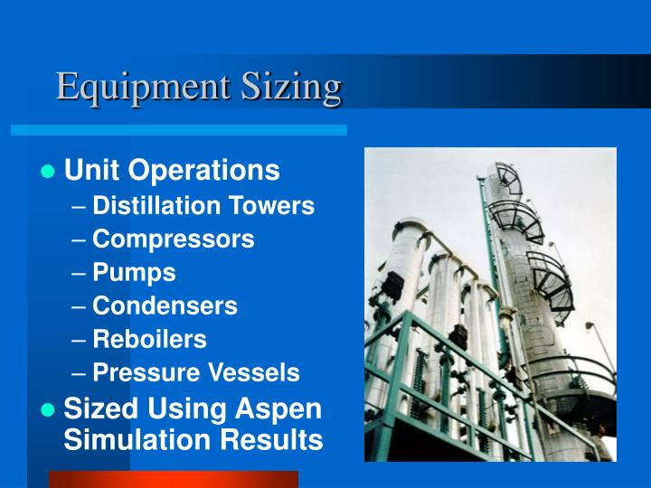 Equipment Sizing