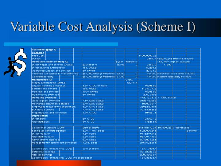 Variable Cost Analysis (Scheme I)
