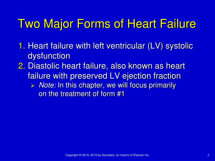 Two Major Forms of Heart Failure