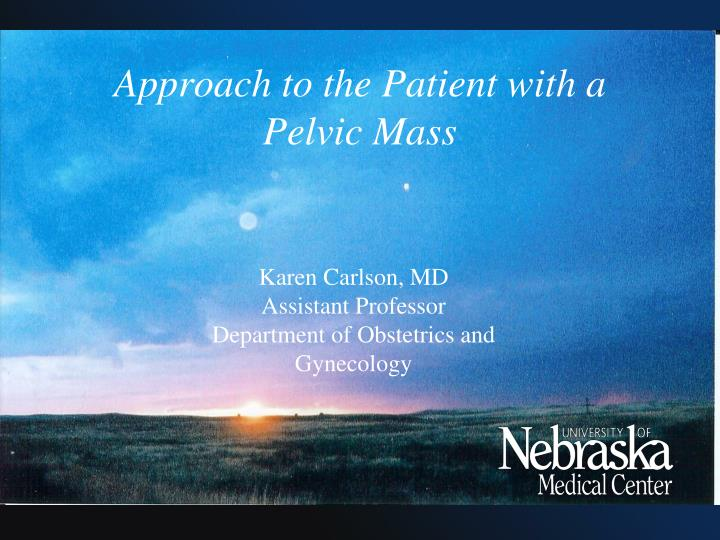 Approach to the patient with a pelvic mass
