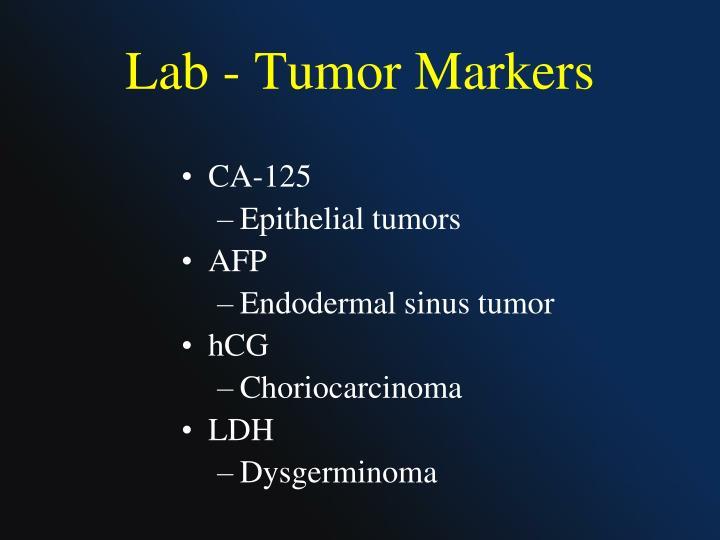 Lab - Tumor Markers
