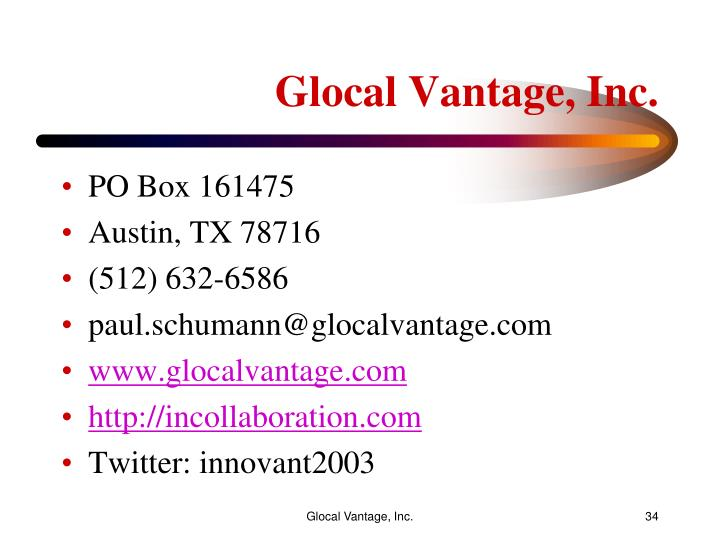 Glocal Vantage, Inc.