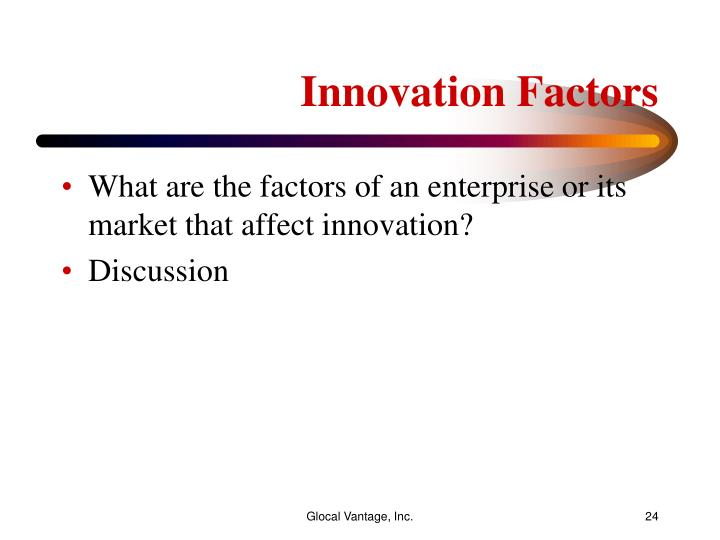 Innovation Factors
