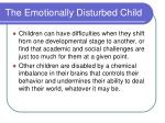 the emotionally disturbed child