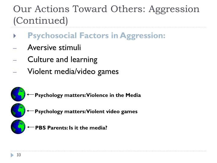 can violent video games serve as an outlet for aggression and reduce social violence Don't blame video games for real-world violence did not play violent games about the positive correlation between video games and aggression.
